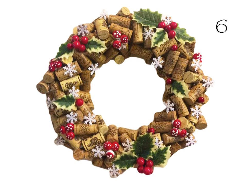 Corks Christmas Garland Wreath Diy